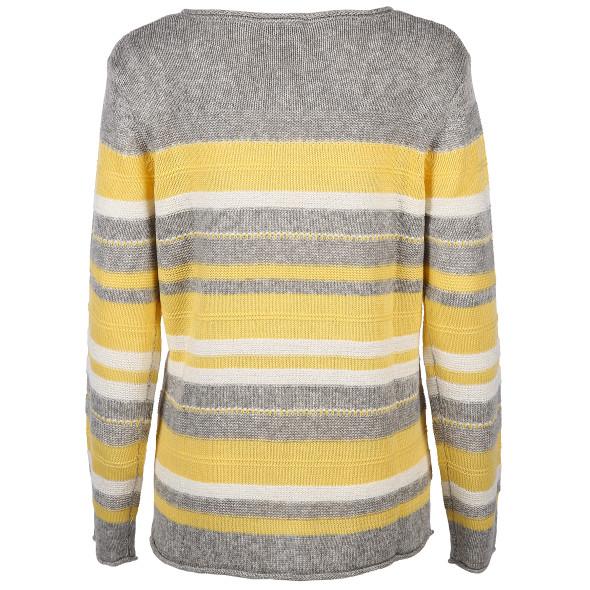 Damen Pullover mit Streifenoptik
