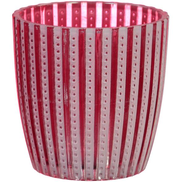 Windlicht aus Glas H: 8,5cm
