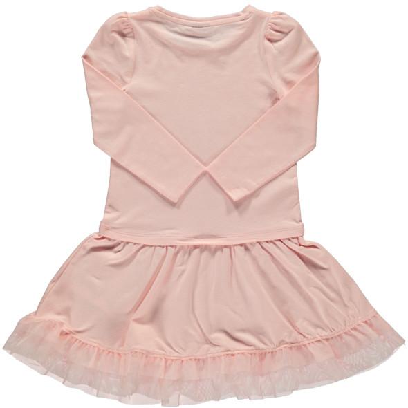 Mädchen Kleid mit Glitzerprint und Tüllbesatz