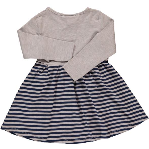 Mädchen Kleid mit Frontprint und langem Arm