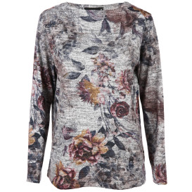 Damen Flauschshirt im Blumenprint