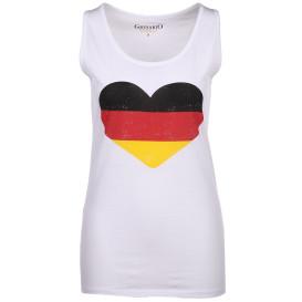 Damen Fan-Shirt mit Deutschland-Motiv