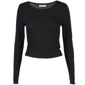 Damen Langarmshirt in Ripp-Optik