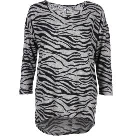 Hailys MIA Flauschpullover im Zebra Dessin