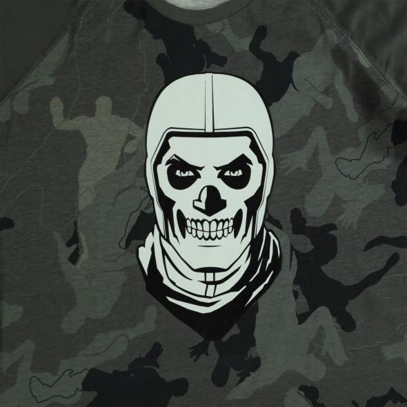 Jungen Longsleeve in Camouflage mit Aufdruck