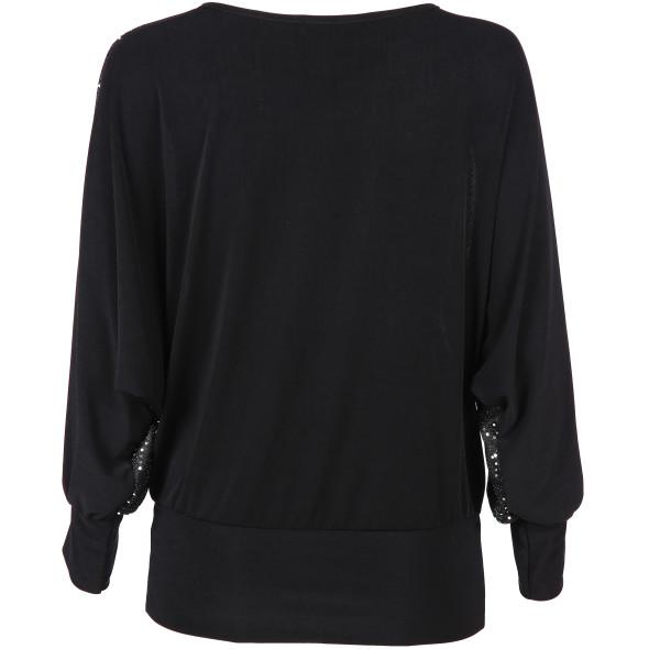 Damen Shirt mit Fledermausärmeln in edler Optik