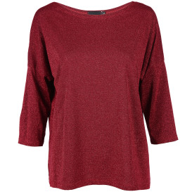 Damen Lurexshirt mit 3/4 Ärmel