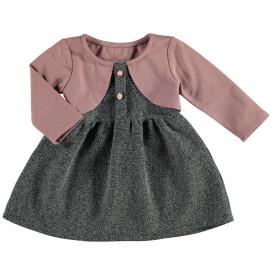 Baby Mädchen Kleid mit angenähtem Bolero