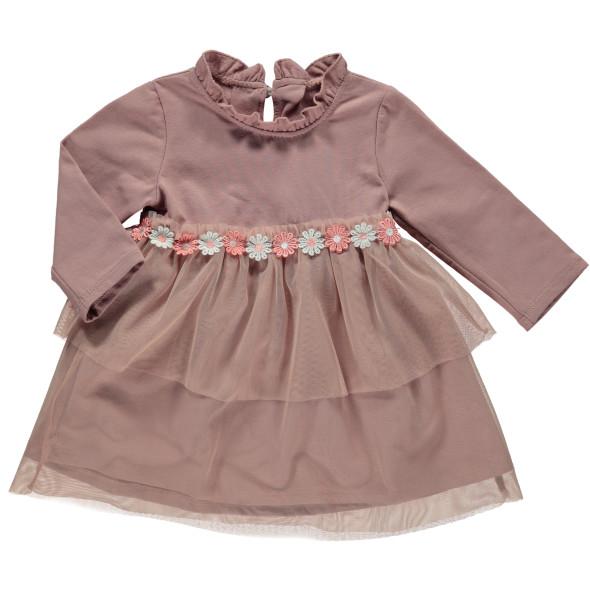 Baby Mädchen Kleid mit Blumenverzierung