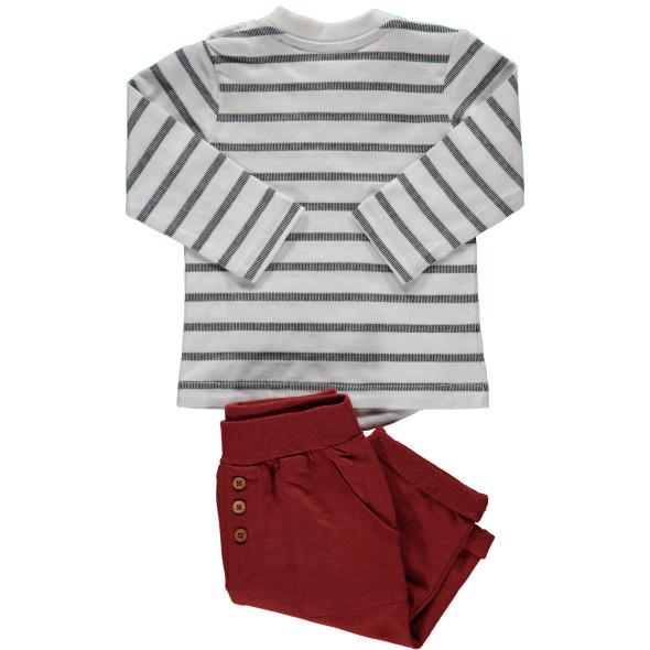 Baby Set, best. aus Langarmshirt und Hose