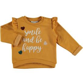Baby Mädchen Sweatshirt  mit Rubber Wording und Pailletten