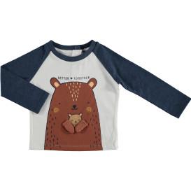 Baby Langarmshirt mit Motiv und Applikation