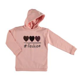 Mädchen Sweatshirt mit Paillettenstickerei