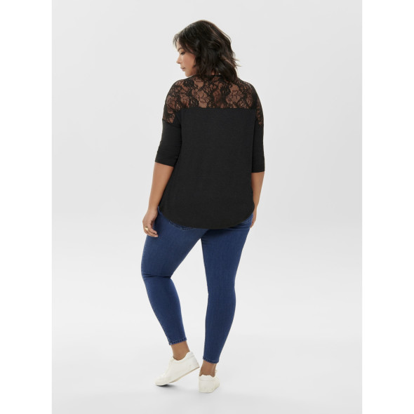 Only Carmakoma CARCARMA 3/4 LACE TOP Shirt mit 3/4 Ärmel