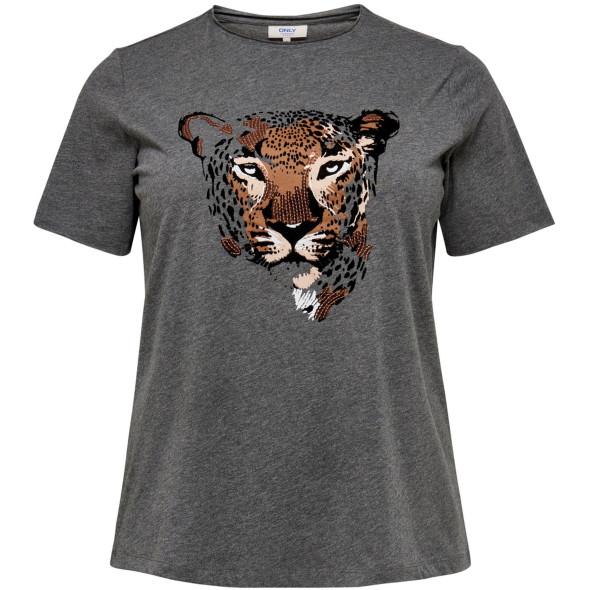Damen Only Carmakoma Shirt mit Animalprint