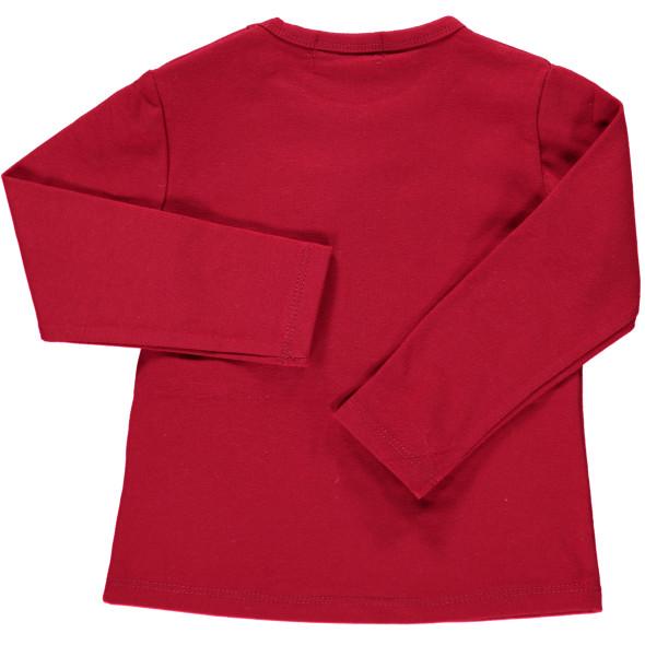Baby Shirt mit Glitzer-Applikation und Strasssteinchen