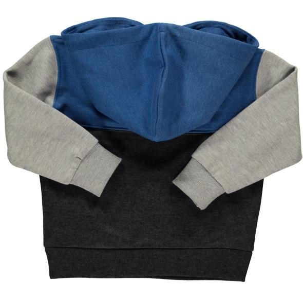 Jungen Sweatshirt mit Kapuze und Schriftprint