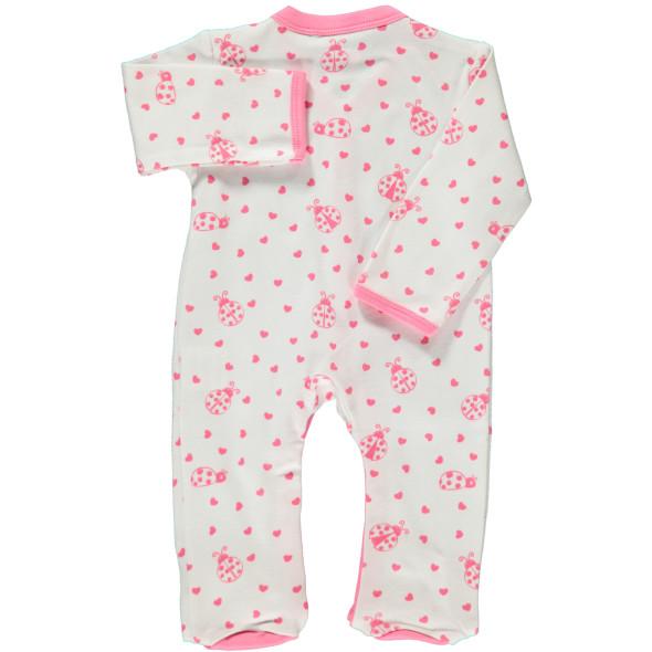 Baby Mädchen Pyjama mit Fuß