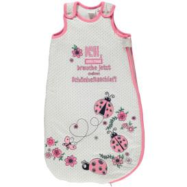 Baby Mädchen Schlafsack mit Frontprint und Stickerei