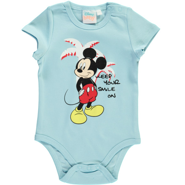 Baby Body mit Frontprint Mickey Mouse