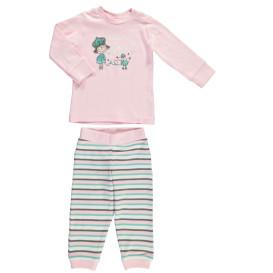 Baby Pyjama 2tlg, best. aus Langarmshirt und Hose
