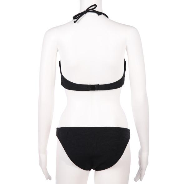 Damen Bandeau Bikini mit Struktur