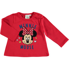 Baby Mädchen Longsleeve mit Minnie Mouse Print