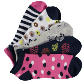 Damen Sneakersocken im 5er Pack