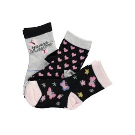 Mädchen Socken im 3er Pack mit hübschen Motiven