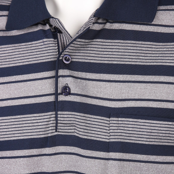 Herren Poloshirt mit Streifen