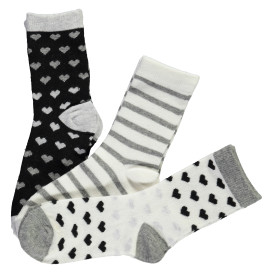 Mädchen Socken im 3er Pack mit Herzchen