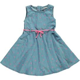 Mädchen Jeans Kleid mit Stickerei