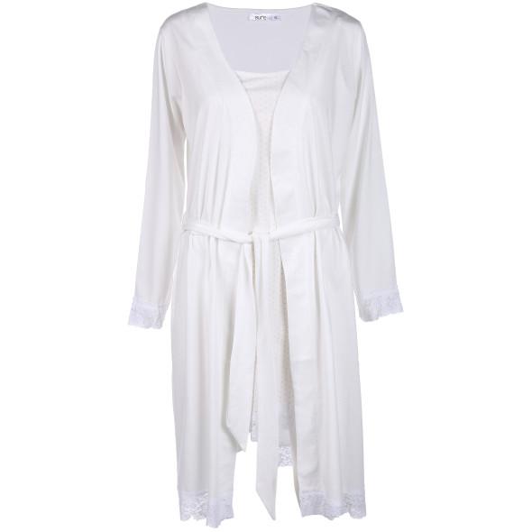 Damen Nachthemd mit passendem Morgenmantel