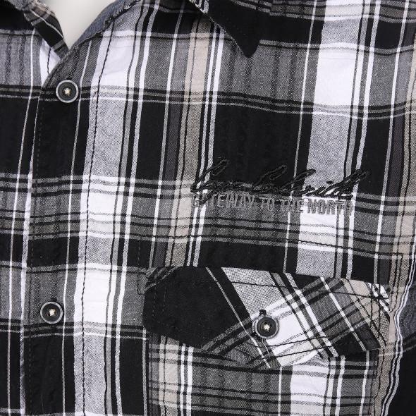 Herren Seersuckerhemd im Karodesign