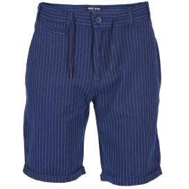 Herren Leinengemisch Shorts in Streifenoptik