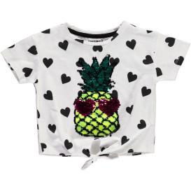 Mädchen Shirt mit Wendepaillettenprint