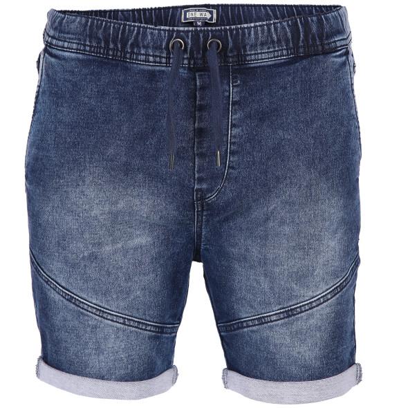 Herren Jeansshorts mit schräger Naht