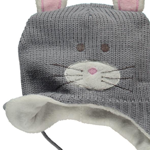 Baby Mädchen Mütze mit Katzengesicht