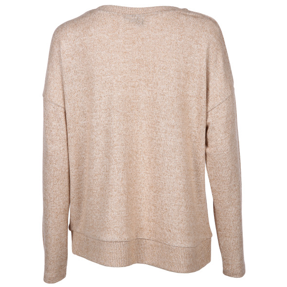 Damen Oversized Pullover in melierter Optik