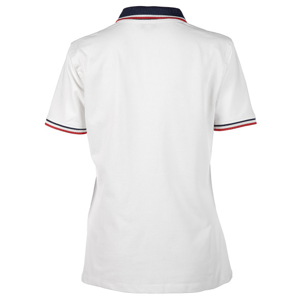 Damen Poloshirt mit Glitzersteinchen