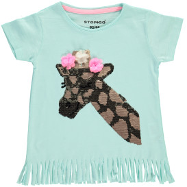 Mädchen T-Shirt mit Wende- Paillettenmotiv