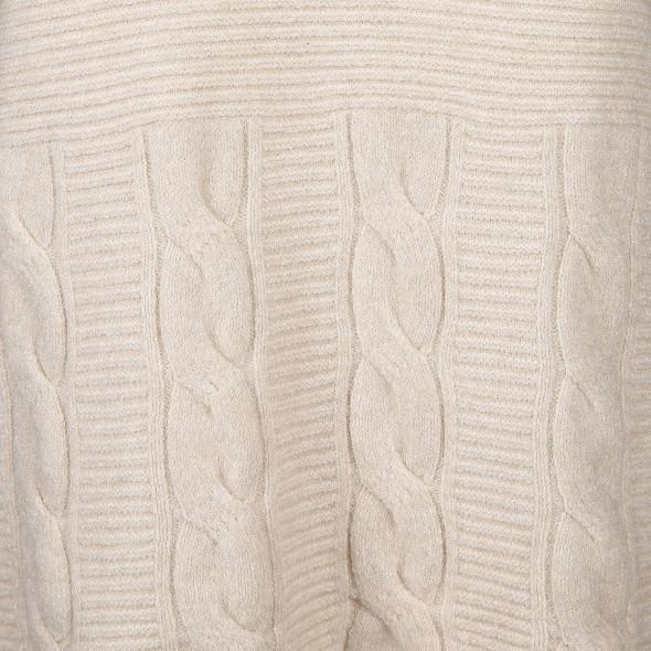 Damen Pullover in Rippoptik und Zopfmuster