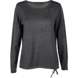 Damen Pullover mit Schmucksteinchen