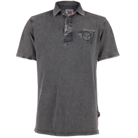 Herren Poloshirt in Used Optik