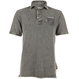 Herren Poloshirt in Used Optik