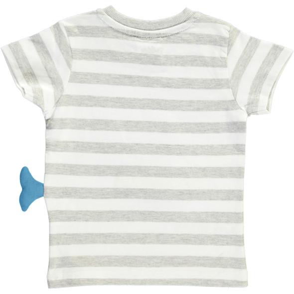 Baby T-Shirt mit niedlicher Walapplikation