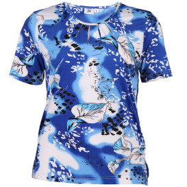 Große Größen Shirt mit Blätterprint