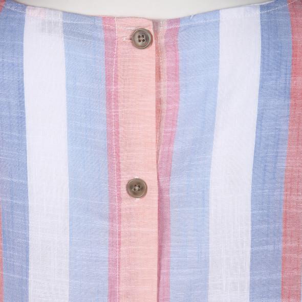 Damen Streifentop mit Knopfleiste im Rücken