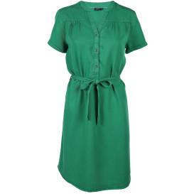 Damen Tencel-Kleid mit Serafinoausschnitt