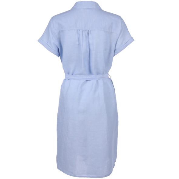 Damen Blusenkleid in Leinen-Baumwollgemisch